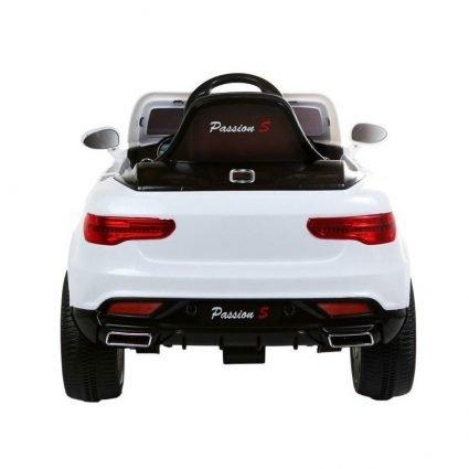 Детский электромобиль Audi Q7 Style 12V - HL-1528 белый (колеса резина, сиденье кожа, пульт, музыка)